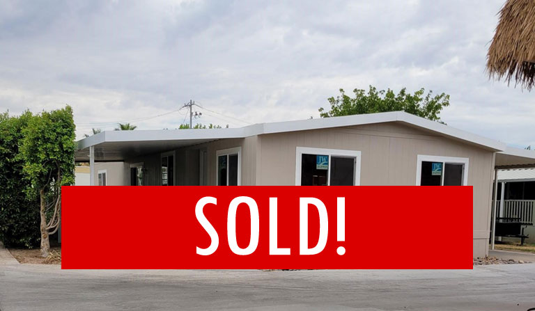 SPACE G-1 – SOLD! – 2 BED, 2 BATH WITH ROOM TO MAKE A 3RD BEDROOM
